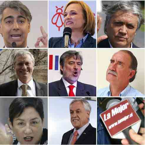 candidatos a presidentes de chile